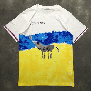 New Novelty 2019 Men VETEMENTS Elephant Graffiti T Shirts T-Shirt Hip Hop Skateboard Street Cotton T-Shirts Tee Top kenye S-XXL 0924