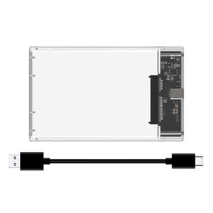 외장형 하드 드라이브 인클로저, USB3.1 노트북 노트북 모바일 하드 디스크 상자 인클로저가 투명 2.5 인치