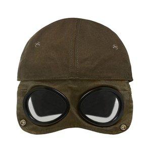 최신 CP 회사 고글 야구 모자 두 잔 캐주얼 남성 여성 모자 모자 고품질의 검은 군대 녹색, 파랑