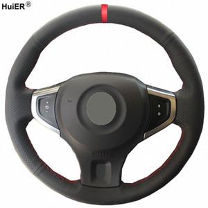 التوجيه HuiER اليد الخياطة السيارات عجلة الغطاء تنفس الأحمر ماركر لكوليوس 2009 2014 سامسونج QM5 السيارات السيارات حامي E0pe #