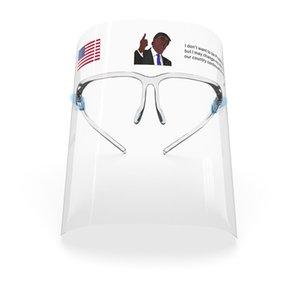 Escudo Trump Biden Cara Con marco de los vidrios antiniebla de aislamiento máscaras de 360 grados de protección anti-salpicaduras reutilizables de la mascarilla del envío de DHL