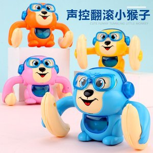 New fun video roll little monkey somersault crawling sound and light boy girl baby baby puzzle child flip toy