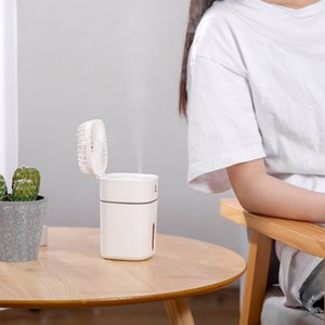 Portable Air Cooler 300Ml Cool Mist Humidifier, Mobile Air Humidifier Mini Misting Fan Handheld Humidifier Personal Fan