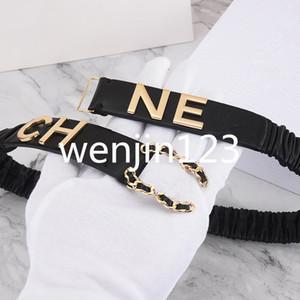 Cinture di lusso Womens Belt Womens cinghie di cuoio cinture nere casual Donne Classico Perla Cintura Ceinture, elastico cintura elastica