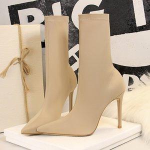 2020 Kadınlar Boots Yeni Over-the-diz Boots Kadın Kış Kadın Ayakkabı Diz-yüksek Yüksek Topuklar Ayakkabı Kış Patik Artı boyutu 40 G55