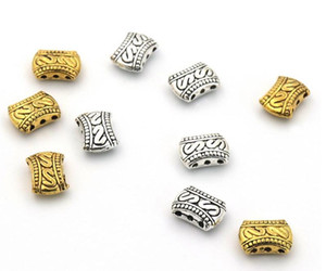 200pcs lot Silver gold Plated 3 Holes Beads Connectors for Jewelry Making Findings Accessories Craft 11x8.5mm