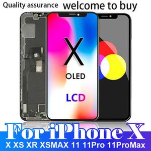 جديد ما بعد البيع لفون X XS XR XSMAX 11 11PRO 11PROMAX شاشة LCD تعمل باللمس محول الأرقام استبدال التجميع الكامل