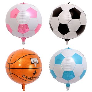 1шт 22-дюймовый 4D стереоскопического шары Футбол Баскетбол Foil воздушный шар счастливый день рождения украшения Детские игрушки товары Globos