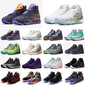 뜨거운 판매 Nike air retro Lebrons 17 개 XVII 낮은 조정 분대 레드 블루 화이트 남성 캐주얼 신발 최고 품질 17 개 스페이스 잼 신발