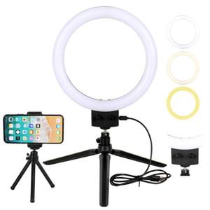 9 pouces / 23.4cm Led Annulaire Photographie selfie Ring Lamp Pour Youtube Makeup Video Light avec trépied pour téléphone