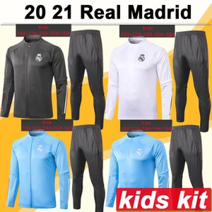 20 21 Real Madrid Veste enfants Kit Football Maillots New SERGIIO DANGER RAMOS BENZEMA Survêtement Formation Costume Enfant Porter Maillots Top