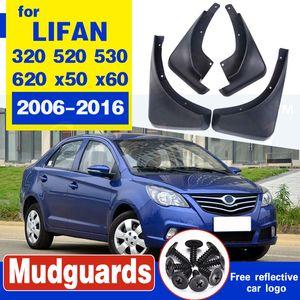 O envio gratuito de fender Car Auto auto mudflaps carro especial fender 4pcs / set Para Lifan 320 520 530 620 x50 x60