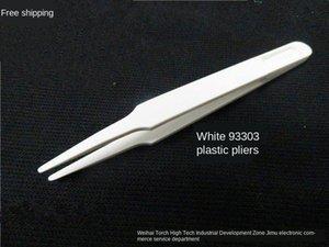 2019 بلاستيكية 93303 أبيض بلاستيك 93302 93305 93308 ملاقط غير المغناطيسية ملاقط تنقية بيضاء خالية من الغبار
