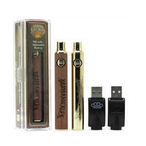 두꺼운 기름 카트리지 황동 너클 배터리 BK 배터리 전자 담배 Vape 펜 배터리 900mAh 배터리 골드 나무 SS 예열 VV 배터리