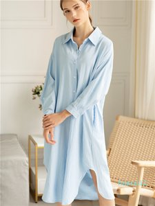 Hot Sale Colorfaith New 2019 Women Dresses Autumn Spring Loose Casual High Waist Straight Long Shirt Dress Solid Single Breasted