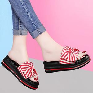 Wedge arc fond épais ins Sandales et pantoufles Chaussons Outdoor Mode 2020 d'été nouvelles chaussures femmes populaires sandales en ligne