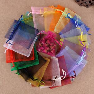 Organza Sac Pouches mariage Bijoux sac-cadeau cosmétiques Parfums Rouge à lèvres Emballage Sacs multi Taille de stockage BH4004 TQQ