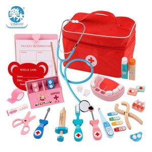 Wooden Toys Funny Pretend Play Real Life Cosplay Doctor Game Toy Dentist Medicine Box Pretend Doctor Play For Children