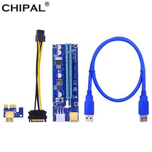 CHIPAL Golden VER009S PCI-E Riser Card 009S PCI Express PCIE 1X to 16X 60CM USB 3.0 Cable 6Pin Power for Mining