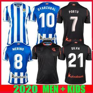 20 21 camisas de futebol Real Sociedad # 21 SILVA 2020 2021 Portu Merino OYARZABAL WILLIAN J. homem crianças do kit Camisetas de Futbol do futebol camisas