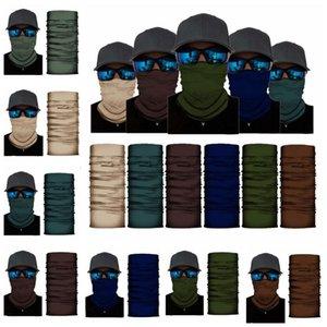 Turban Sólidos Magia lenço Bandanas Sunblock Sports Headwarp Escudo Ciclismo Neck Enrole Headband Proteção Máscara Dustproof Máscara LSK764