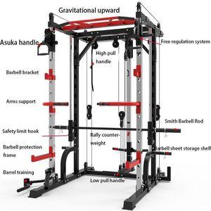 جودة عالية جديد سميث آلة الصلب القرفصاء رف الجنزير الإطار اللياقة البدنية الرئيسية جهاز التدريب الشامل مجانا القرفصاء مقاعد البدلاء الصحافة الإطار 1