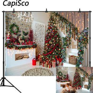 Capisco fondali fotografia Christmas Tree Scale in vinile Ritratto Piano caminetto di legno sfondi fotografici Photo Studio