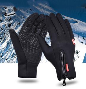 Windstopers Anti Slip coupe-vent chaud thermique tactile Gant respirant Tactico Hiver Hommes Femmes Noir Gants Zipper