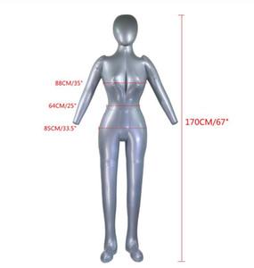 170cm inflable mujer de cuerpo completo Maniquí femenino del modelo de manera simulada Manekin PVC Mostrar ventana de visualización