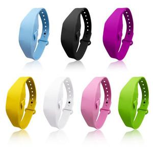 Gel Mani Hand Sanitizer Bracciale per adulti bambini bagagli Wristband Dispenser indossabile Wristband del silicone con Refill bottiglia