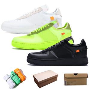 Avec la taille Laces Box 12 Top qualité Wome Hommes 1 Designer Casual Shoes Platform Run Pure Shoes Blanc Noir Volt formateurs baskets off