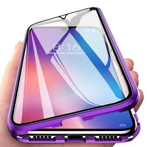 Cassa del respingente magnetico metallo per OPPO A91 A31 A5 A7 A8 A11X F9 K5 F11 Cover Double-Sided Glass Funda Per OPPO A5 A9 Caso Pro 2020