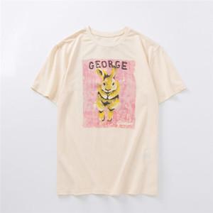 Mens Fashion T Shirt 2020 Coelho de rua famoso de alta qualidade camisas Tortoise pulôver Pols manga curta homens casal mulheres Stylist Hip Hop Tee