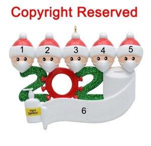 2020 года мы остались дома Карантин Рождество Семья 5 персонализированных Рождественская елка украшения украшения дома