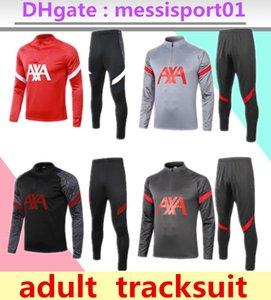 2020 2021 Survêtement Soccer Training Suit Jersey 2020/21 liverpool Survêtements manches longues Football 2020 fixé uniforme costume de formation 2021