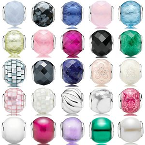 100% 925 Sterling Silver pandora Beads Charms Multicolor Essence Murano Glass Beads collocation DIY Bracelet & Bangle fine jewelry
