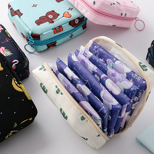 Tampon Storage Bag Waterproof Tampon Storage Bag Cute Sanitary Pad Pouch Portable Makeup Lipstick Key Earphone Data Cables Organizer DHL