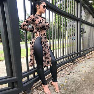 Tshirts Dijital Baskı Uzun Kollu Skinny Moda Genç Kız Casual Giyim Perspektif Tasarımcı Womens Tops