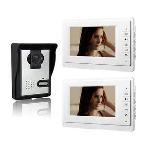 Cgjxsxinsilu 7 بوصة لون إنترفون السلكية تليفون الباب بالفيديو 1V2 فيديو Citofono الصفحة الرئيسية لنظام الاتصال الداخلي V70f -L 1V2