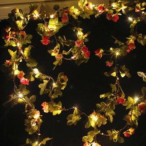 Artificial flower star bud vine led light string copper wire lamp rattan flower christmas decoration light battery lantern