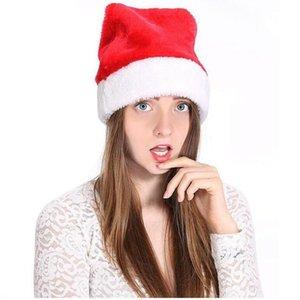 Christmas Hat Gefüllte Santa Hüte weicher Plüsch Weihnachtsmann Pom-Pom Kappe Weihnachten Erwachsene Cosplay Cap Party-Hut YYA426 Seeschifffahrt