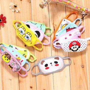 Детская маска для лица маски Cubrebocas Tapabocas ткань Face Симпатичные респираторы Детская Детская маска Мультфильм Теплый хлопка Желтая пыль маска Garden2010 Lnv