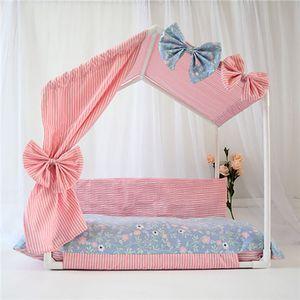 2020 Новый Конура Pet Cat Tent Закрытый Съемные персонализированных печати Bow Tie Дизайн Pet Bed Подходит для мопсов Supplies