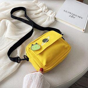 Designer-Mini Canvas Crossbody Bags for Women 2020 Small Female Handbags Shoulder Messenger Bag Korean Lady Student Flap Phone Bag Purses