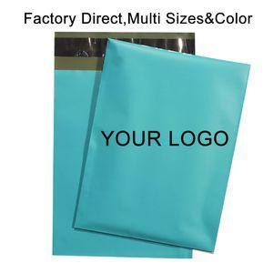 50PCS Пользовательского логотипа Poly Mailers Конверты Courier хранение Почтовые сумки Упаковка для подарков проложенной Доставки габаритов пузыря