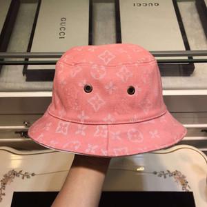 clásicos de lujo correa de la letra sombreros del cubo del color de la barra de doble cara negro sombrero para el sol sombrero de viajes de alta calidad clásico blanco hombres y de mujeres del pescador