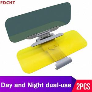 Auto Parasole Giorno Notte Auto Sun Visor guida Specchio HD anti Uv Dazzling Clear View Fold Flip Down Clip On Sun visiere lKFv #
