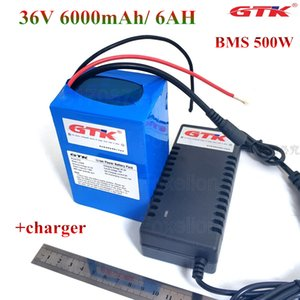 GTK 36V 6000mAh Lithium 6Ah batterie ion 18650 Pack 10S2P pour moteur de voiture électrique 500W 350W 36V 250W roue ebike + 42V chargeur 2A