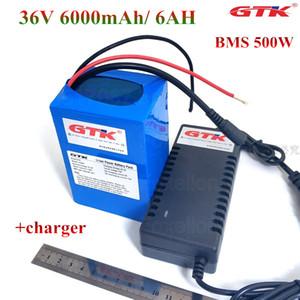 GTK 36V 6000mAh 6Ah Литий-ионный аккумулятор 18650 10S2P пакет для 500w мощности двигателя автомобиля 350w 36v 250w колесо Ebike + 42V 2A зарядное устройство