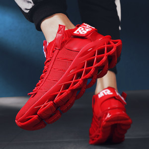 2019 autumn new blade running shoes men's shoes Korean style trendy all-match internet celebrity socks shoes casual sports